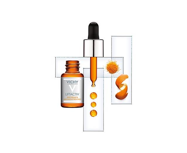 liftactiv-freshshot-antioksidacijski-tretma-vichy ;proti-utrujenumu-izgledu-koze; serum-vitamin-c; hitro-vpijanje; proti-gubam; glajenje-gub; smejalne-gube; globoke-bore