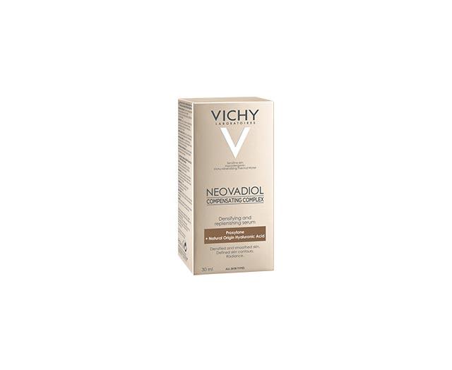 NEOVADIOL NADOMESTNI KOMPLEKS*   Napredni obnovitveni koncentrat za zrelo kožo in kožo v menopavzi  Vsi tipi   občutljive kože    * Nadomestni kozmetični kompleks.