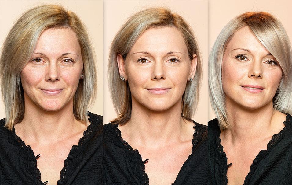Janina preobrazba s pudrom Dermablend